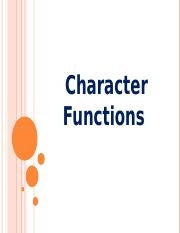 18Chapter - 4 Characer Functions