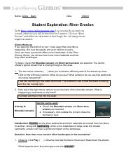 RiverErosionSE.pdf - Name Aicha Barry Date Student ...