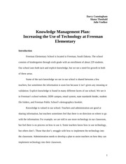 Knowledge Management Plan