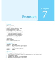 Chapter 7 Recursion