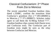 3rd lecture Zisi to Mencius