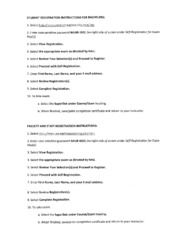 Peregrine Entry Exam detailed instructions