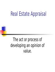 The Appraisal Profession.ppt