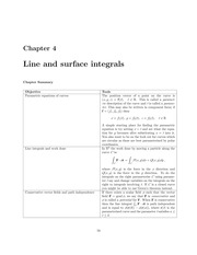 Line and Surface Integrals Lecture