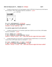 ARC322 Homework 9 Module 13 SOLUTION 2008