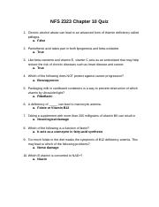 NFS2323Chapter10Quiz