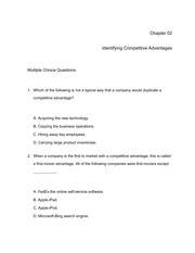 MIS 301 Chapter 02 Practice Quiz
