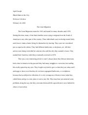 black males in the city assignment 1.docx