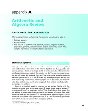 Appendix A  Arithmetic and Algebra Review