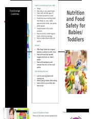 babies and food safety.docx