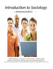 Sociology Text Chapter 1 and Extras Only