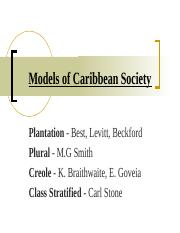 Models of Caribbean Societies 15