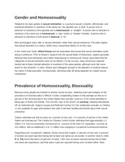 Gender and Homosexuality