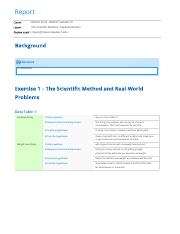 The Scientific Method – Experimentation report (1)