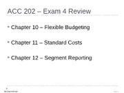 ACC 202 Exam 4 Review