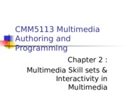 Chapter 2 - Skillsets and Interactivity