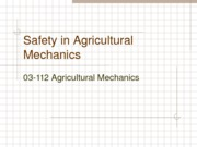 Safety in Agricultural Mechanics
