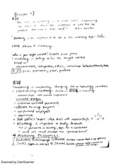 Chapter 1 and 2 Class Notes
