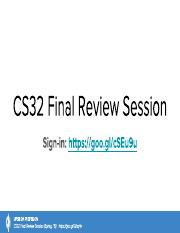 [UPE Tutoring] CS32 Finals Review Session (Smallberg).pdf