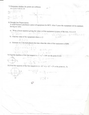 linear relationships 1b