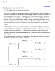 11. Tree diagrams for conditional probabilities
