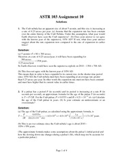 ASTR 103 Fall 2012 Assignment 10 Solutions