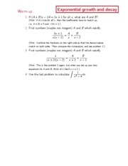 Dartmouth Math 3 Introduction to Calculus Lecture Notes 17
