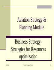 Chap 2-3  Business Strategy- Strategic position-Resources use optimisation.ppt