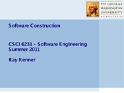 4. Software Construction