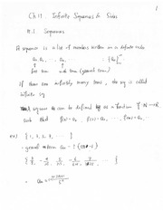Infinite Series and Sequence