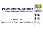 Ch01 Introduction to Psychological Science