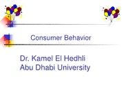 Topic 4-- Consumer Behavior