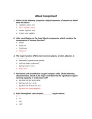 Chapter 17 - Blood Assignment