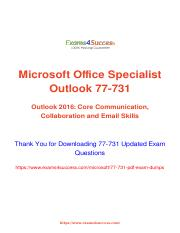 Microsoft 77-731 Exam Questions answers.pdf
