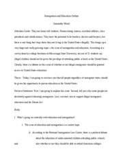 conclusion in conclusion americans need to set aside any opposing  dream act essay · 6 pages immigration and education outline 1