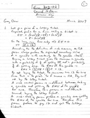 ECON 302 D2 Second Midterm 2009 Answer Key