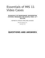 Video Case Answers ESS11_REV 2-14-14.doc