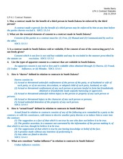 LP 4.1 - Contract Statutes Business Law 1