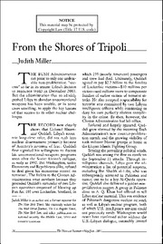 From the shores of tripoli