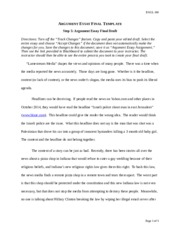 Argument Essay Assignment