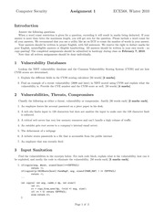 ECE568 Official Exam 2011 Winter Assignment 1