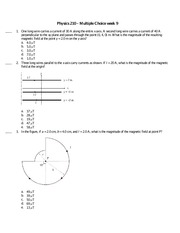 Physics 210 Practice Question 9 and Solutions