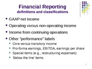 Income Statement and Revenue Recognition