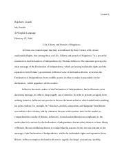 Copy of Prompt. Declaration of Independence Rhetorical Analysis - Rigoberto Lizardi.docx