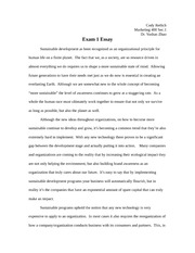 Marketing 400 Essay 1