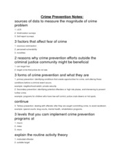 Crime Prevention Notes