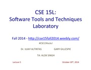 5 - CSE15LFall2014Lecture520thOct2014