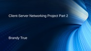 Client-Server Networking Project Part 2