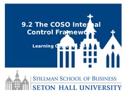 Lesson 9.2 The COSO Internal Control Framework