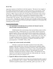 HCAP 3310 - Examples of a discussion post and dropbox post..pdf